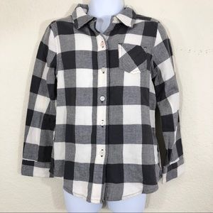 Jumping Beans button down plaid top size 5